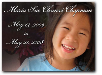 Maria Sue Chapman, May 13, 2003 to May 21, 2008