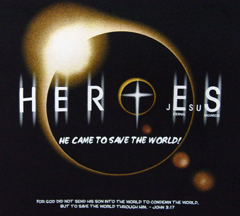 HERO JESUS T-Shirt Front Design